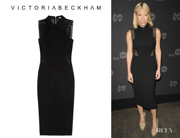 Tracy Anderson's Victoria Beckham Broderie Anglaise-Paneled Dress