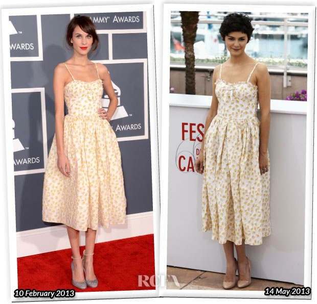 Who Wore RED Valentino Better Alexa Chung or Audrey Tautou