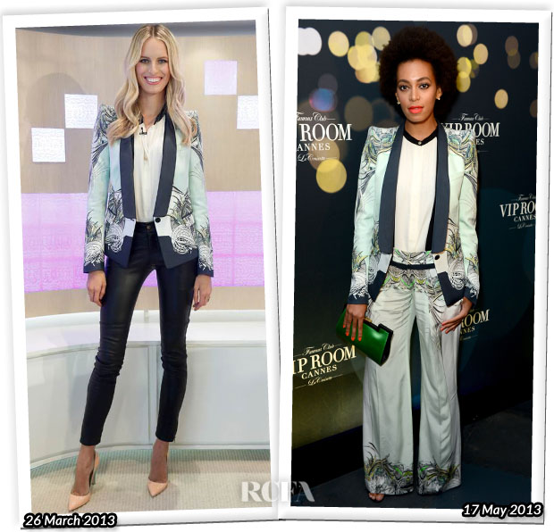Who Wore Roberto Cavalli Better Karolina Kurkova or Solange Knowles
