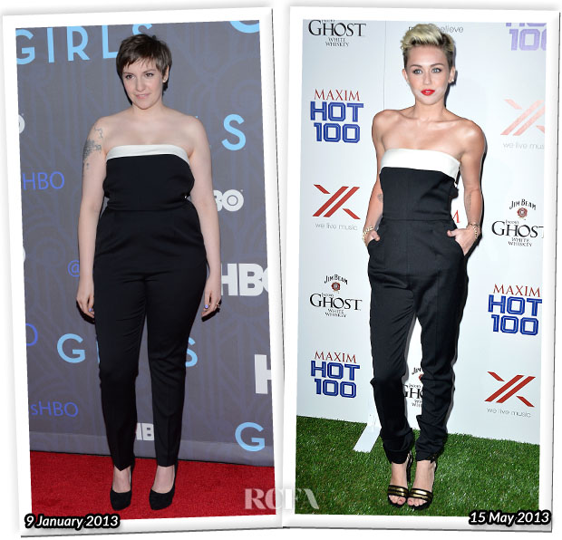Who Wore Valentino Better Lena Dunham or Miley Cyrus