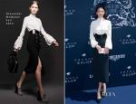 Zhang Yuqi In Alexander McQueen - Prix de Diane Longines