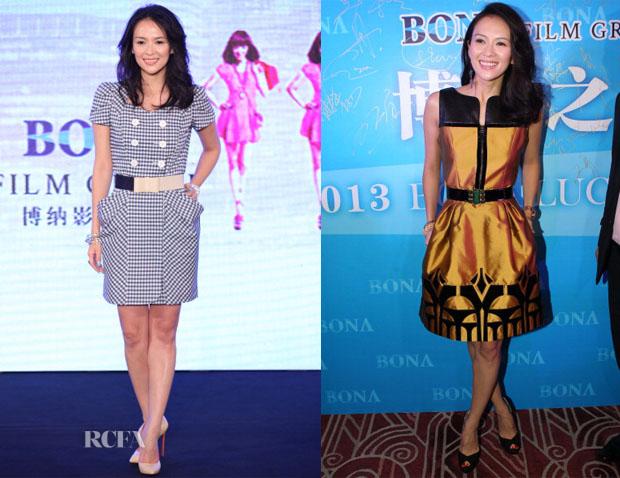 Zhang Ziyi In Jill Stuart & Andrew Gn - Shanghai Film Festival