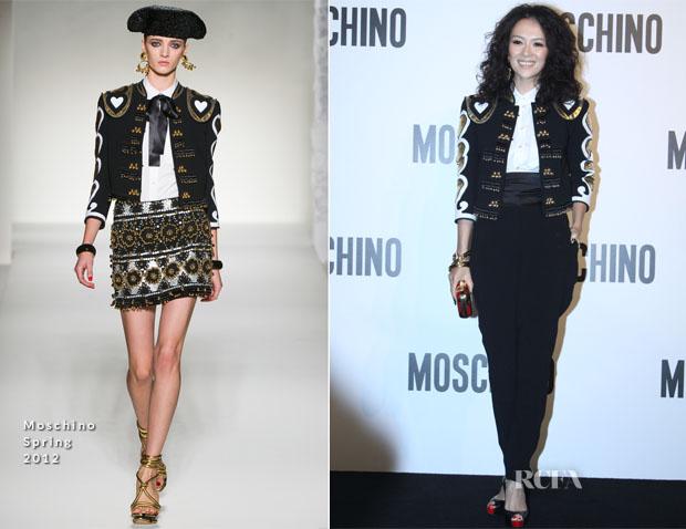 Zhang Ziyi In Moschino - Moschino Shanghai Fashion Show
