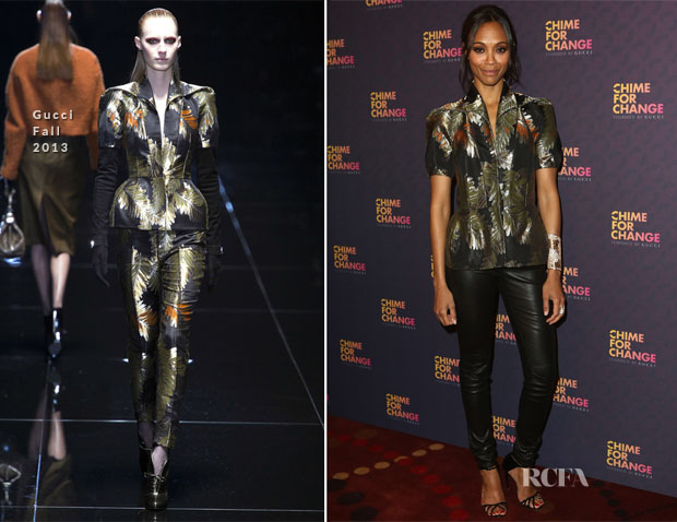 Zoe Saldana In Gucci - 'Chime For Change The Sound Of Change Live' Concert
