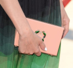 Diane Kruger's Charlotte Olympia 'Cancer Pandora' perspex clutch