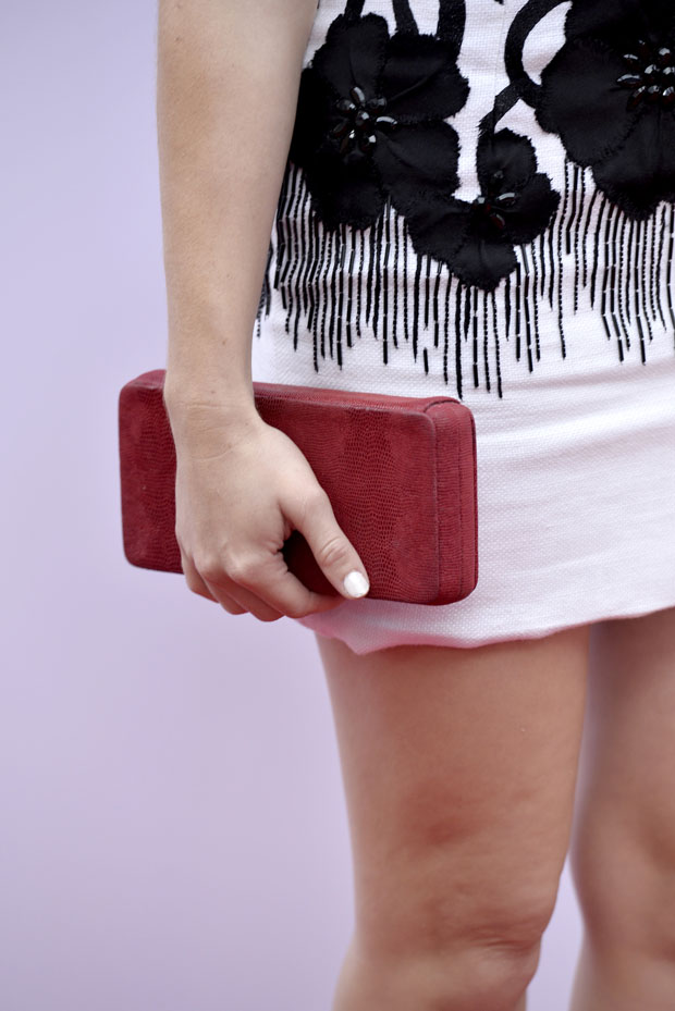 Holland Roden's Lauren Merkin clutch