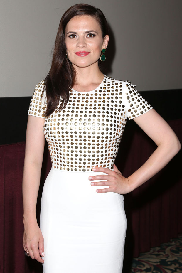Hayley Atwell in Burberry Prorsum