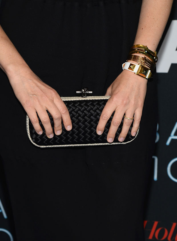 Vera Farmiga's Bottega Veneta clutch