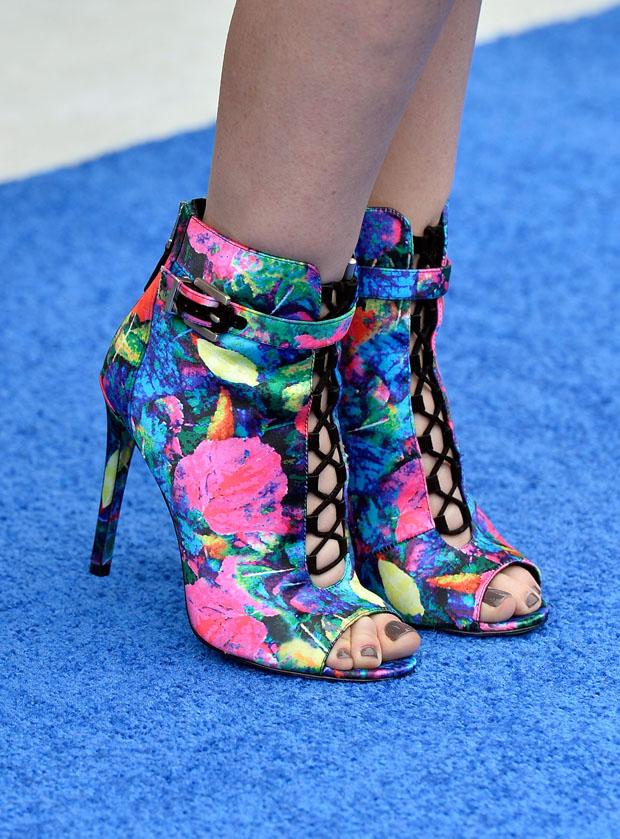 Jayma Mays' B Brian Atwood booties