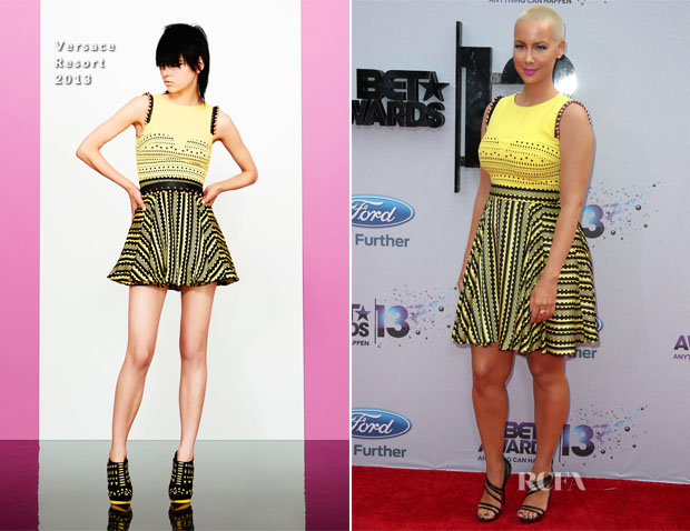 Amber Rose In Versace - 2013 BET Awards