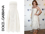 Amy Adams' Dolce & Gabbana Embroidered Organza Strapless Dress
