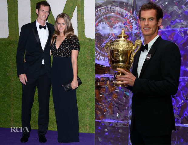 Andy Murray and Kim Sears In Burberry - Wimbledon Champions Dinner