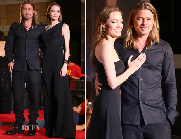 Angelina Jolie In Saint Laurent - World War Z Tokyo Premiere