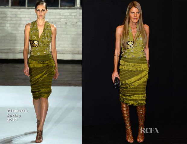 Anna Dello Russo In Altuzarra - Armani Privé Fall 2013 Couture Show