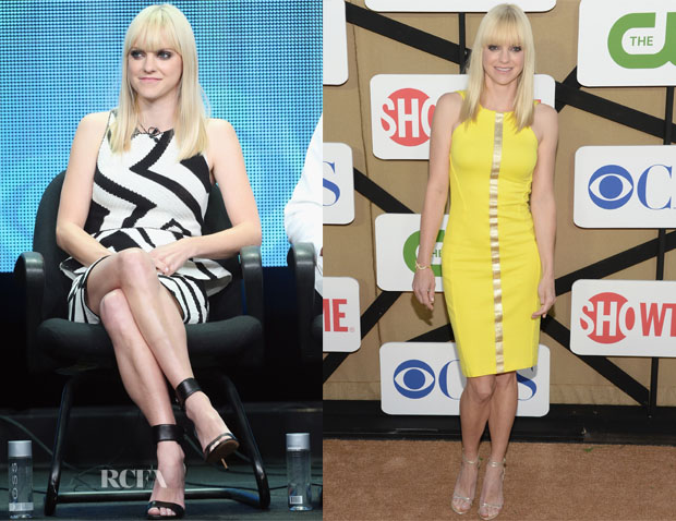Anna Faris In Alice + Olivia & Versce - 2013 Summer TCA Tour & CW, CBS And Showtime 2013 Summer TCA Party
