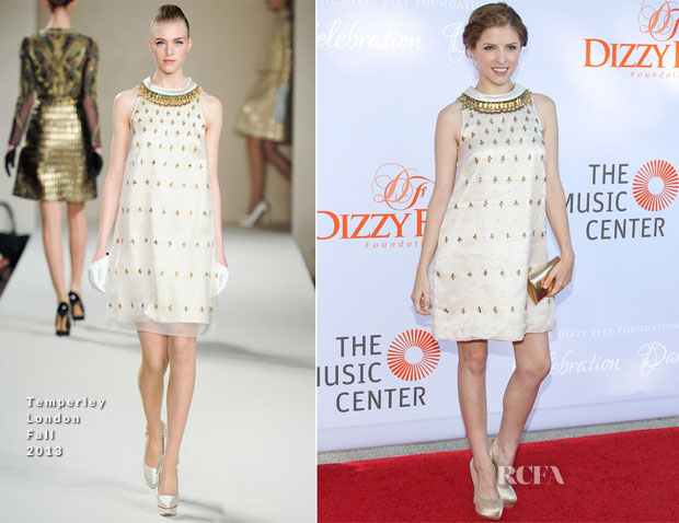 Anna Kendrick In Temperley London - Dizzy Feet Foundation's Celebration Of Dance