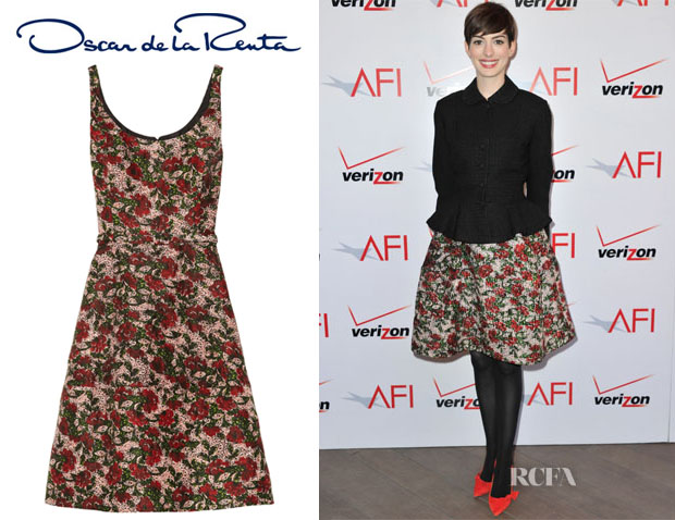 Anne-Hathaway-In-Oscar-de-la-Renta-2013-AFI-Awards2