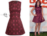Ariel Winter's McQ Alexander McQueen Bug Embroidered Cotton-Blend Dress