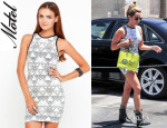 Ashley Tisdale's Motel Zola Pu Bodycon Dress