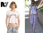 Ashley Tisdale's Rebel Yell 'Trouble' Crop Tee