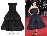 Audrey Tautou's Lanvin Tiered Pleated Taffeta Dress