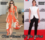 Best Dressed Of The Week - Miranda Kerr In Wes Gordon, Ruth Wilson In Balenciaga, Zachery Levi in Reiss & Armie Hammer In Ermenegildo Zegna