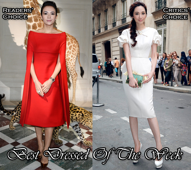 Best Dressed of The Week - Zhang Ziyi In Valentino Couture & Pace Wu In Ulyana Sergeenko Couture