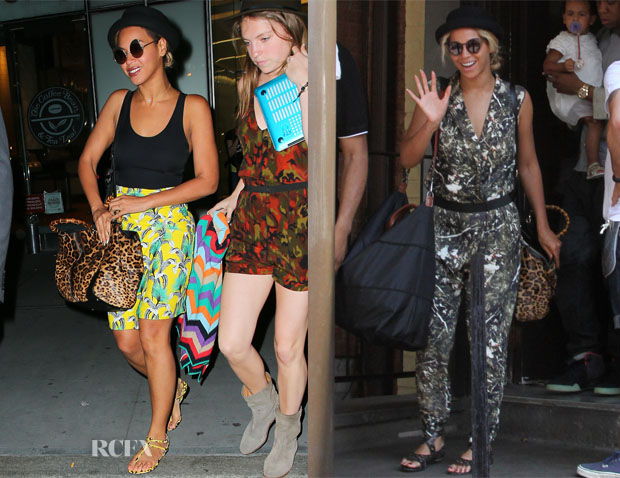Beyonce Knowles Loves Her Gucci's Bamboo Shopper Jaguar Tote