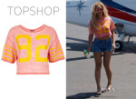 Beyonce Knowles' Topshop Number 92 Crop Tee