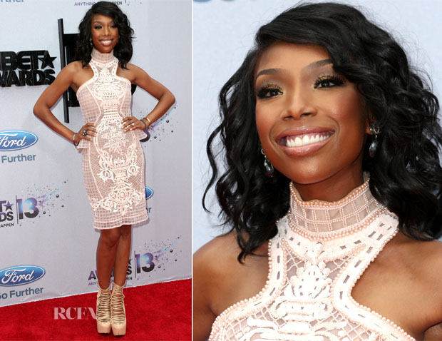 Brandy Norwood In Michael Cinco - 2013 BET Awards