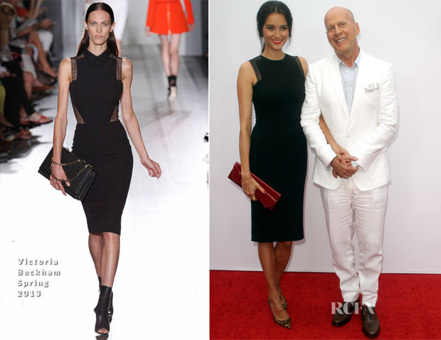 Bruce Willis In Dolce & Gabbana and Emma Heming In Victoria Beckham - 'RED 2' LA Premiere