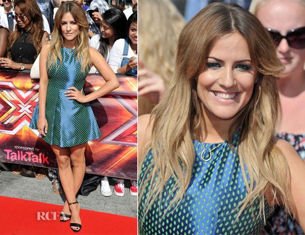 Caroline Flack In Jaeger - 'X Factor' London Auditions