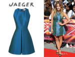 Caroline Flack's Jaeger Racer Back Pleat Dress