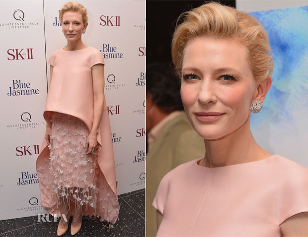 Cate Blanchett In Balenciaga Edition - 'Blue Jasmine' New York Premiere