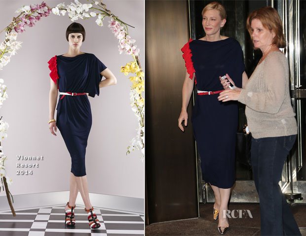 Cate Blanchett In Vionnet - Out In New York City