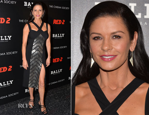 Catherine Zeta-Jones In Michael Kors - 'RED 2' New York Screening