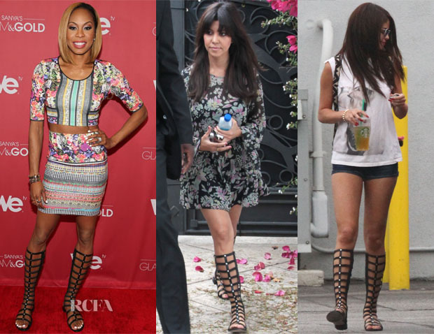 Celebrities Love Stuart Weitzman Gladiator Boots