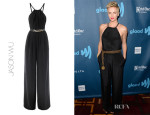 Charlize Theron's Jason Wu Halter Silk Jumpsuit