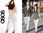 Cher Lloyd's ASOS High Waist Scribble Print Leggings