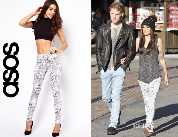 Cher Lloyd's ASOS High Waist Scribble Leggings
