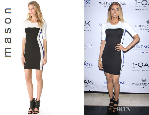 Ciara's Mason by Michelle Mason Tricolor Dress