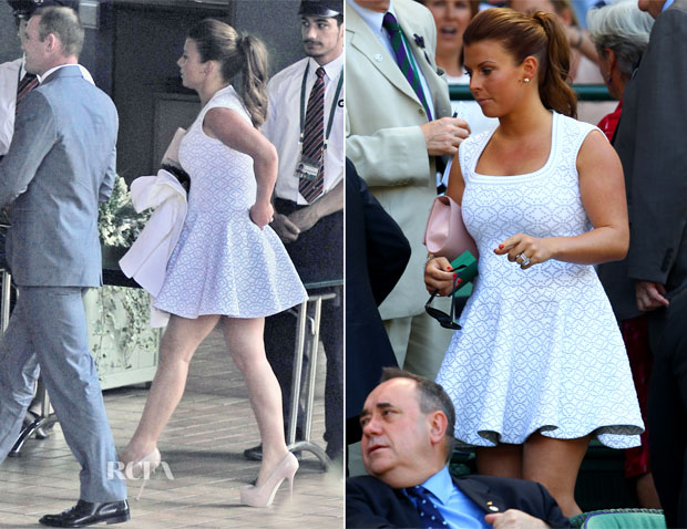 Coleen Rooney In Azzedine Alaia - Wimbledon Men's Final