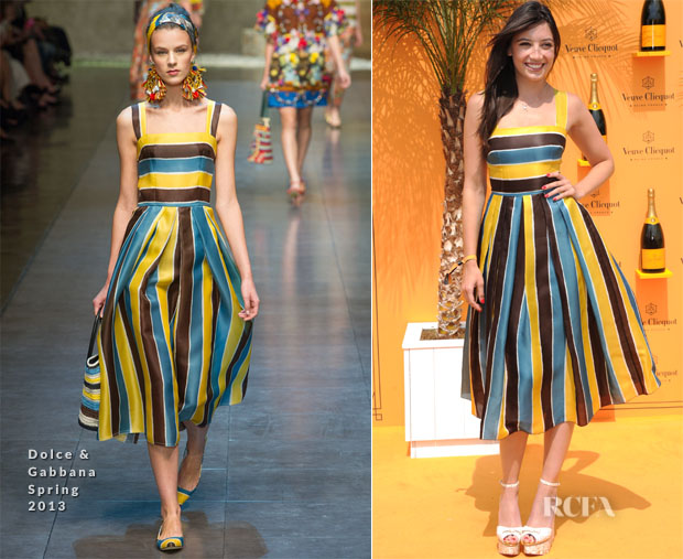 Daisy Lowe In Dolce & Gabbana - Veuve Clicquot Gold Cup Final