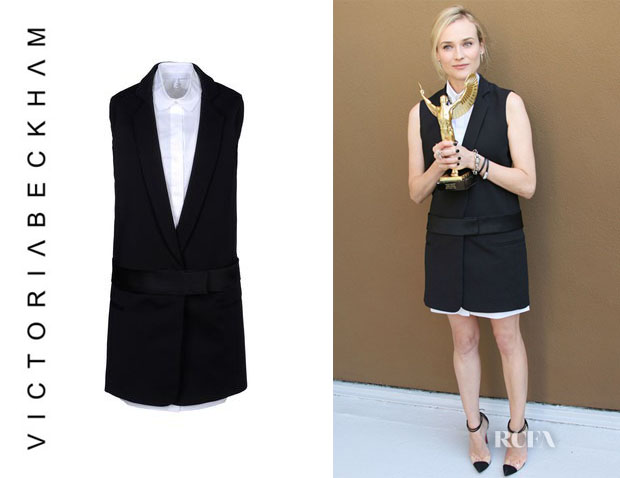 Diane Kruger's Victoria, Victoria Beckham Layered Tuxedo Dress