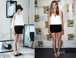 Elizabeth Olsen In Balenciaga - 'Godzilla' Preview: Comic Con 2013