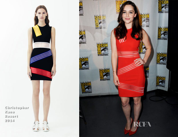 Emilia Clarke In Christopher Kane - Comic Con 2013  'Game Of Thrones' Panel