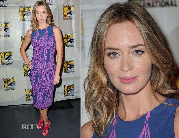 Emily Blunt In Wes Gordon - Warner Bros and Legendary Pictures Preview Comic Con 2013