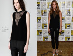 Emily VanCamp In A.L.C. & J Brand - 'Captain America: The Winter Soldier' Press Line: Comic Con 2013