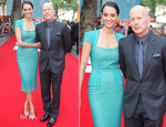 Emma Hemming In Roland Mouret & Bruce Willis In Dior Homme - 'RED 2' London Premiere