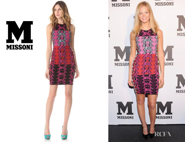 Erin Heatherton's M Missoni Hibiscus Intarsia Open Back Dress